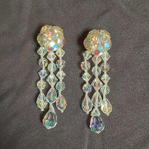 Crystal-Rhinestone Vintage Earrings